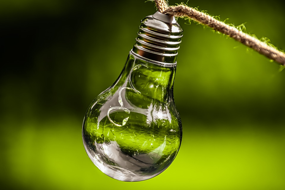 žiarovka, zelená