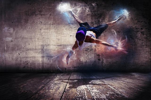 tanečník s kšiltovkou
